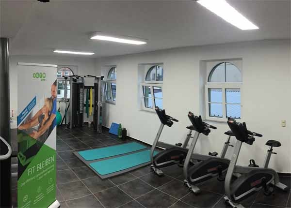 LED retrofitting at the fitness center for training Lindenau and the affiliated physiotherapy Lindenau in Leipzig.