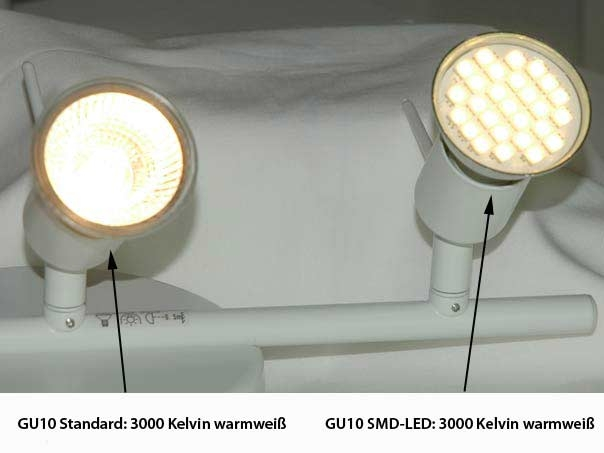 gu10 led lamp with protective cover 120 degrees 3000 kelvin 4 5. Black Bedroom Furniture Sets. Home Design Ideas