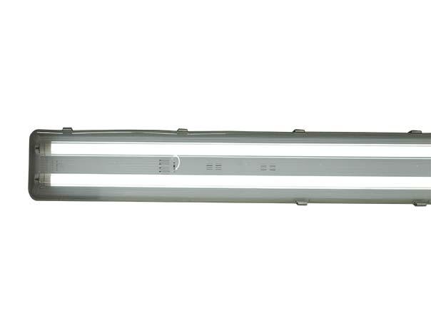 Super 2-flammige 120cm LED Feuchtraum Wannenleuchte + 2x BASIC 18W LED-R&o YV37