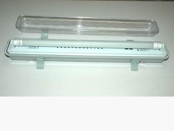 60cm damp proof led light fixture moisture proof ip55. Black Bedroom Furniture Sets. Home Design Ideas