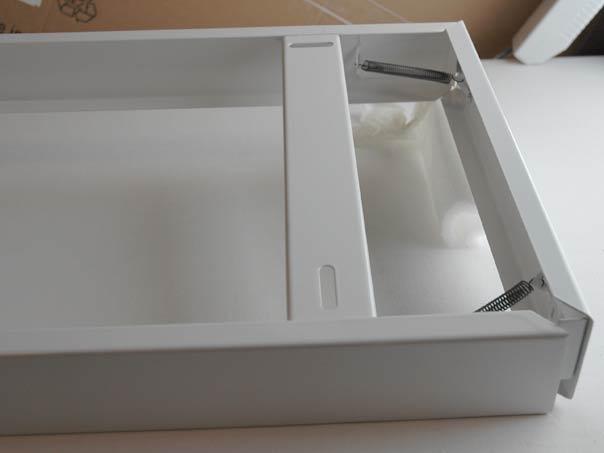 mounting case for 120x30 led panels white. Black Bedroom Furniture Sets. Home Design Ideas