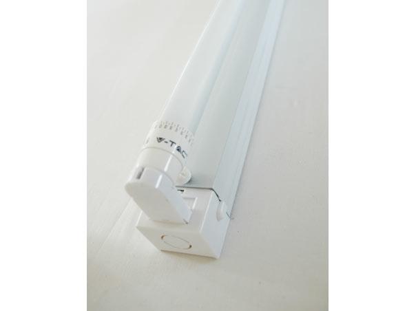fassung f r t8 led r hre 150cm 1 flammig 230v wei t8. Black Bedroom Furniture Sets. Home Design Ideas