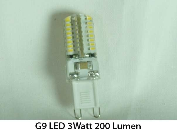 10x g9 led 3 watt 200 lumen replaces 25w g9 halogen lamp. Black Bedroom Furniture Sets. Home Design Ideas