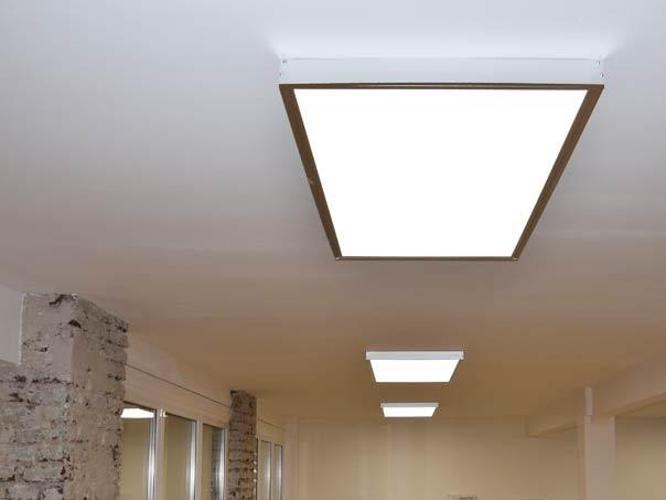 surface mounted ceiling light 120x60cm silverframe. Black Bedroom Furniture Sets. Home Design Ideas
