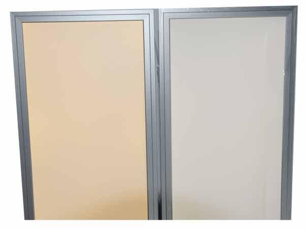 led panel 150x30 warmwei 3000k 1 10v dimmbar silber t v. Black Bedroom Furniture Sets. Home Design Ideas