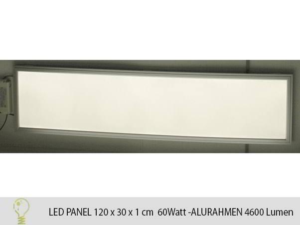 led panel 120x30cm hell 60w versch lichtfarben. Black Bedroom Furniture Sets. Home Design Ideas