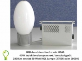 40W induction light replacement kit for existing 80 W mercury-vapour lamps (HPMV lamps)
