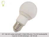 10x E27 LED-5.5watts- 400lumens- warm white-73 lm/w-replaces 60w lamp-beam angle 300°degrees