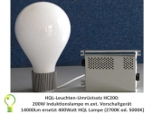 HQL lights conversiont: 200 watt induction lamp replacement for 400 watt HQL lamp