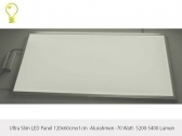 LED Panel 120x60cm high power LED-ultraslim (10mm) aluminium frame -70w?74 lm/watt- (3000-6000K)
