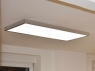 surface mounted ceiling light 120x60cm silverframe