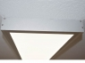 surface mounted ceiling light 120x30cm silverframe