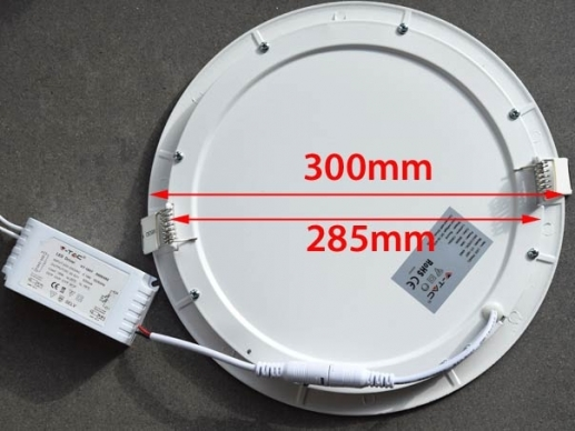 Affordable 300mm LED Downlight 6000k daylight white 285mm cut out size