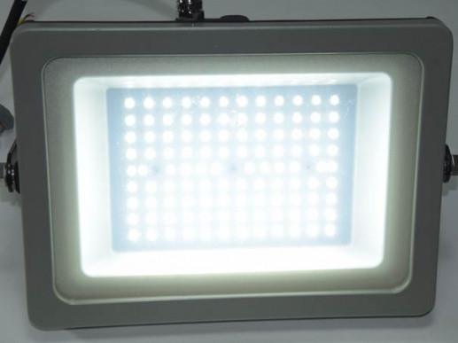 100W LED Fluter IP65 warmweiß anthrazit slim Design 8000 Lumen