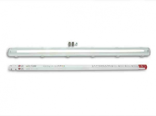 120cm damp-proof LED lamp - moisture-proof -IP65-incl. 120cm T8 LG LED tube