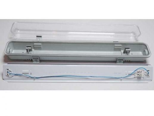 60cm damp-proof LED light fixture 2x T8 tubes - moisture-proof -IP55