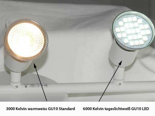10 x gu10 led leuchtmittel mit schutzglas 120 tageslichtwei szli. Black Bedroom Furniture Sets. Home Design Ideas