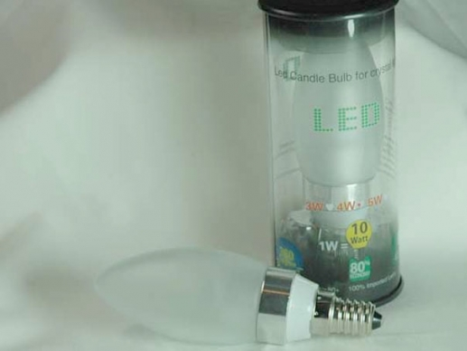 10 pieces C40/E14 LED candle 4Watt -clear or frosted