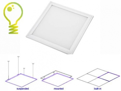 Hygienic LED-Panel HG Lights 6060 with antibacterial effect 3000K-45W