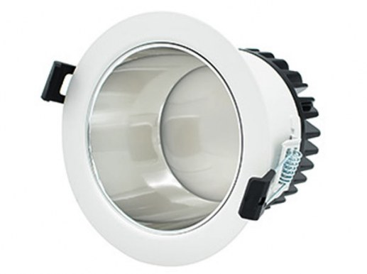 This new very noble series of LED downlights in silver comes with a very narrow white outer rim and a high gloss reflector in silver. The LED recessed luminaire uses high quality SAMSUNG® LED chips with an outer diameter of 172mm and a hole size / installation dimension of 144-165 mm ceiling cut-out.