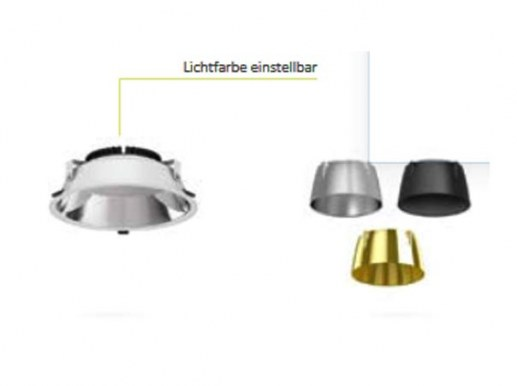 The high-quality SAMSUNG® LEDs and excellent colour rendition make this LED downlight a top recessed luminaire. The power supply is emergency power capable. Good LED chips maintain luminous flux and light colour for a long time. The recessed spotlight and the power supply unit are specified with a lifetime of 50,000 hours and have a 5-year manufacturer's warranty.