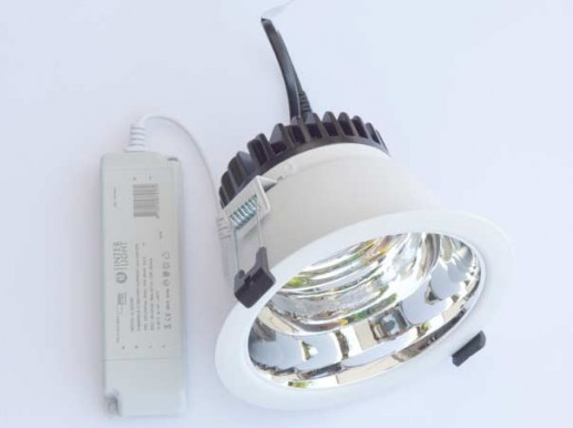172mm LED downlight silver dimmable Samsung LED cutout 144-165mm adjustable to 3000K -4000K - 5700K