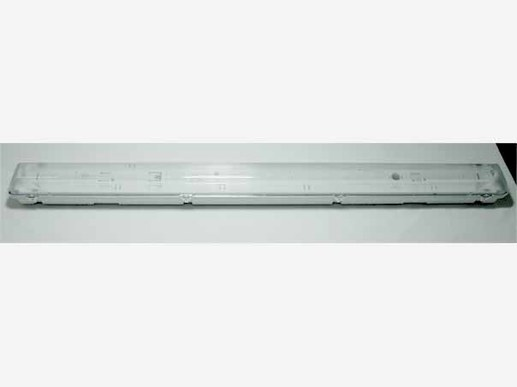 Wannenleuchte LED 150 IP66 150cm IP66 2-flammig f�r T8 LED V2A-Clips -Leergeh�use-