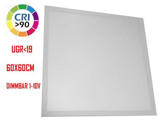 600x600mm LED Panel light CRI90 and UGR<19