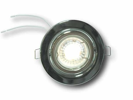 LED recessed spotlight chrome polished swivelling