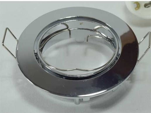 2 pieces GU10 spotlights chrome 80mm cutout: 65,, 30mm high