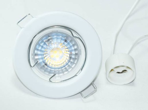 10x 7W GU10 LED spotlights white: 82mm cutout:65mm