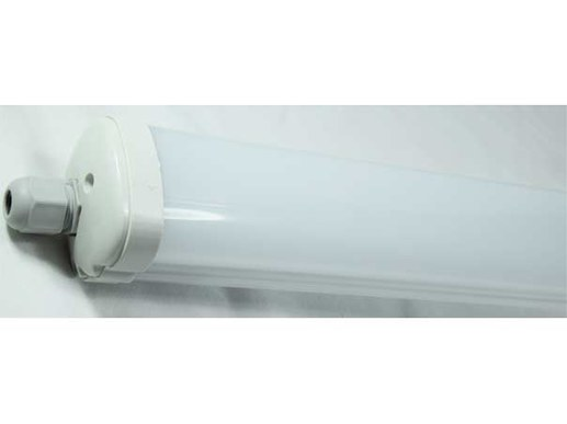 Led damp-proof luminaire 120cm IP65 through-wired