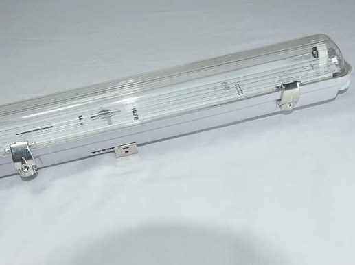 LED moisture-proof luminaire 150cm 1-flame IP65 T8 LED metal clips