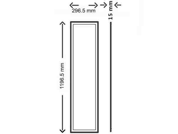 led panel 120x30cm ip65 4000k cri90 dimmable samsung leds. Black Bedroom Furniture Sets. Home Design Ideas