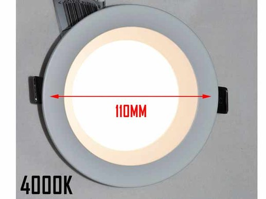 110mm LED Downlight 90mm cut-out dimmable