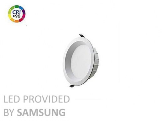 180mm LED Downlight dimable flickerfree 150mm cutout Ra90 Samsung LED IP44