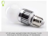 10x E27 LED-Lampe- warmweiß-4.8 Watt-230V-343...