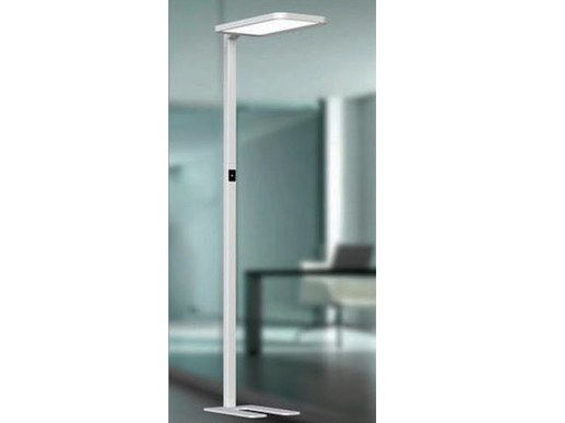 LED floor lamp for office and desk for computer workstation. 195cm high with adjustable motion sensor. In 4000K neutral white.40W light up and 40W down.