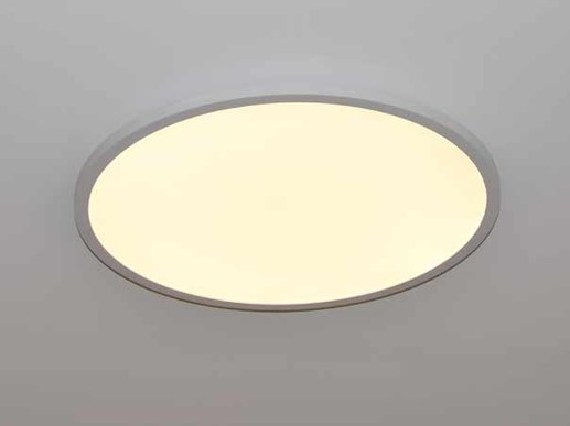 LED panel round dimmable with 60cm diameter and colour change function. Colour range between 3000K warm white -6000K daylight white adjustable via supplied remote control. Steplessly dimmable