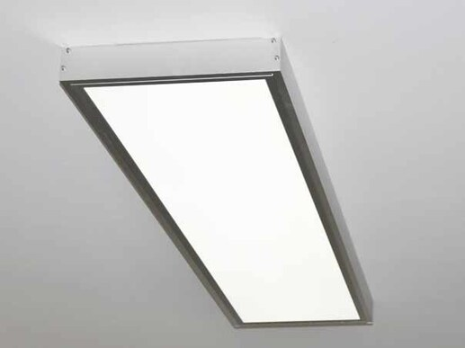 LED ceiling light flat CCT color changing 120x30 dimmable silver with remote control