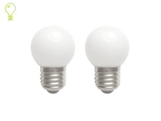 2 pieces E27 LED-3watts- 350lumens- warm white-100 lm/w-replaces 25w lamp-beam angle 300°degrees-CRI85