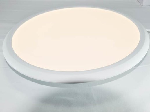Bright round LED panel with 40cm diameter for ceiling mounting, cable suspension or installation in plasterboard ceiling with spring clips. Long life of 50,000 hours and bright 2500 lumen luminous flux.