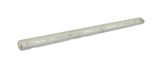 2-flame 120cm LED diffuser lamp IP65.   Affordable, robust and popular: The 150cm 2-flame IP65 LED diffuser light is an empty housing for T8 LED tubes for KVG/VVG. Or as an energy-saving replacement for existing power-guzzling 2x36W diffuser luminaires with conventional fluorescent lamps.