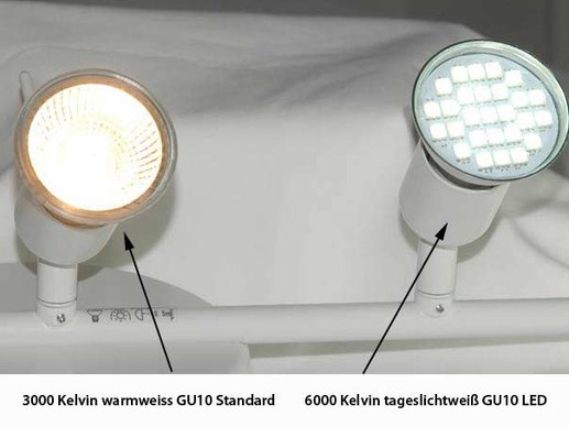 10 pieces GU10 LED lamp with protective cover 120° degrees 4,5 watt 350 lumen 6000K