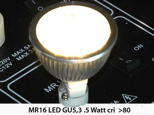 10 pieces MR 16 LED - 12 Volt- GU5,3 High Power LED 360 Lumen 4.5 watt