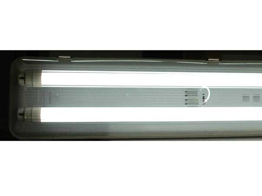 2x150cm Feuchtraum Wannenleuchte LED 230V IP65 + 2x Power T8 (860) (3447Lm)