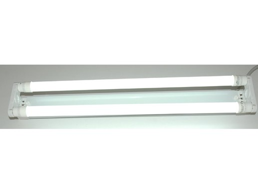 LED T8 Halterung 2-flammig weiß + 2x T8 LED tube 6000K 950Lumen matt