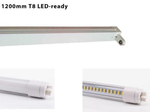 120cm Led Lichtleiste 230v 1 Flammig Inkl T8 Led Rohre