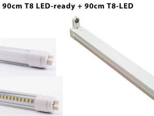 90cm T8 LED batten light fitting incl. 90cm T8 LED