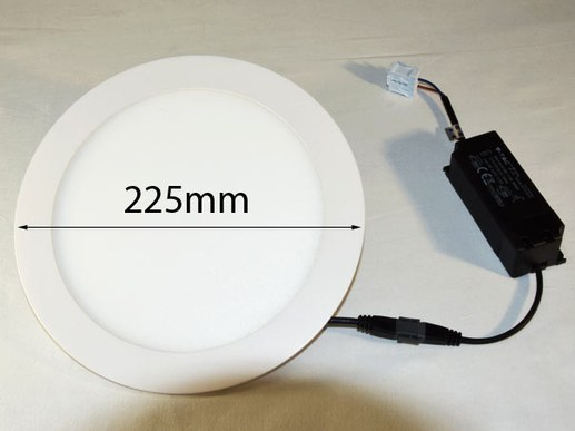 LED recessed light LED round panel 225mm Samsung LEDs 210mm hole size white